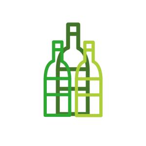 Food wine friends logo